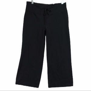 Lululemon black wide leg capri leggings